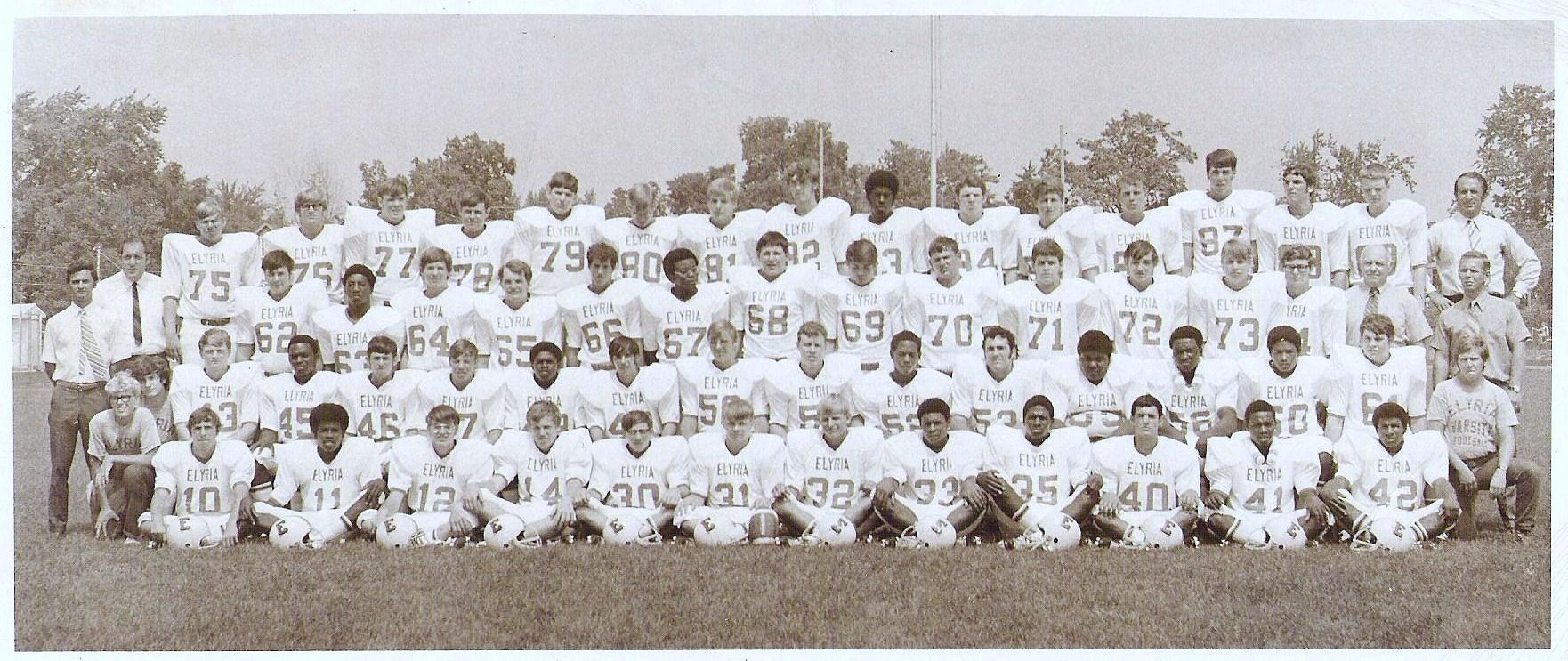 1971 Elyria High Football Team Elyria Sports Hall Of Fame